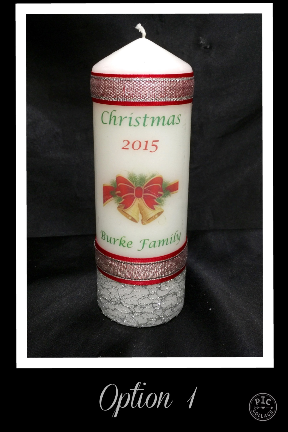 Large Personalised Christmas Candle - Click Image to Close